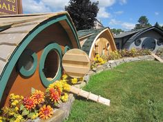 I want to go here.... The Hobbit Huts in Unity, ME