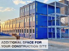 Additional Space for your construction Site - CONTAINEX offers you various sizes and various container and cabin types. Visit our homepage for further information. Portable Cabins, Storage Containers, Your Space, Multi Story Building, Construction, Romantic Sayings, Homes, Haus, Building