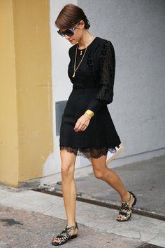 Keepin' it simple .... Milan Fashion Week Street Style: Photo: Greg Kessler