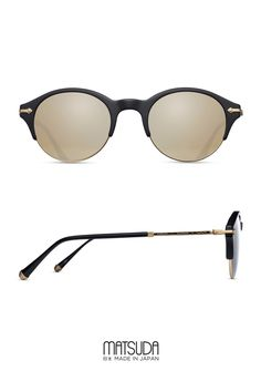 Matsuda   Sun Collection   M2014   classic round frame with combination  front and titanium  d7f2b5f2b459
