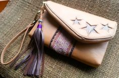 Leather Purse/ Clutch, Colorful Purse, Tribal Purse, Banjara Purse, Handmade, Bohemian Purse, Boho Clutch on Etsy, $110.00