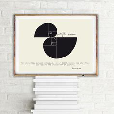 Fibonacci spiral Aristotle quote Science art by PrintablePixel