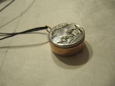 HANDMADE COPPER PIPE BUFFALO NICKEL CHARM/ PENDANT/ BEAD 3D COIN JEWELRY