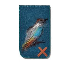 Protective cases for glasses, telephone handsets or any other bits and pieces ... or, owing to its details - birds, berries on a twig, a tree with a cage or a butterfly, it is simply speaking, a nice thing to look at and have close to your heart. Hand made by felting techniques and sewing.