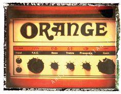 Orange guitar amp.