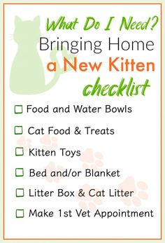 Bringing Home Kitten Printable