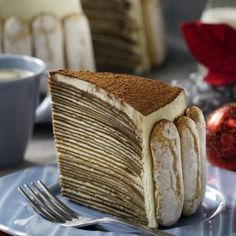 Pastel de Crepas de Tiramisú Crepes, Pancakes, Breakfast, Ethnic Recipes, Desserts, Queso, Food, Yummy Cakes, Cold Desserts