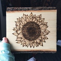Tipsy Trees | s u n // F L O W E R #sunflower #wood #woodburn #pyrography