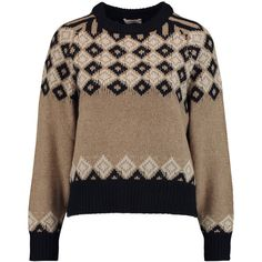 See by Chloé Argyle knitted sweater (6,015 PHP) ❤ liked on Polyvore featuring tops, sweaters, sand, brown argyle sweater, see by chloe top, brown sweater, brown tops and argyle sweater