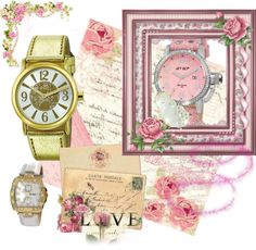 """""""The Love of Watches"""" by petalandgold on Polyvore"""