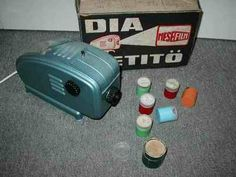 Projection machine for cellulose film stories from the sixties // Diavetito