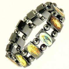 Neptune Giftware Magnetic Hematite Elasticated Saints Bracelet / Jesus Bracelet / All Saints Bracelet - 113 Neptune Giftware. $6.99