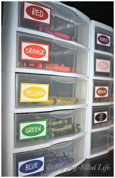 Crayon Organization & Color Labels Printable