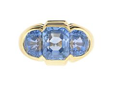 Vintage Bvlgari ring - yellow gold and sapphires
