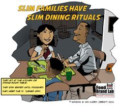 Dinner Rituals that Correlate with Child and Adult BMI, obesity, brian wansink, cornell university, food and brand lab, food psychology, nutrition, family dinner
