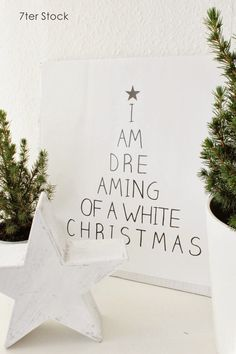 Dreaming of a white Christmas poster | Colours of Christmas | White