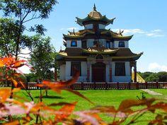 Templo budista é um dos pontos turísticos de Três Coroas (Foto: Prefeitura de Três Coroas/Divulgação)