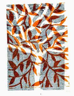 Arbre magique - gravure sur bois - magic tree - woodcut 2013 by Valérie Belmokhtar