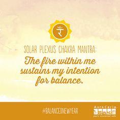Aura Cacia Solar Plexus Chakra Mantra