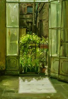 Morning Light, by Simon Pasini Italian Painters, Italian Artist, Gravure Illustration, Illustration Art, Painting Inspiration, Art Inspo, Through The Window, Morning Light, My New Room