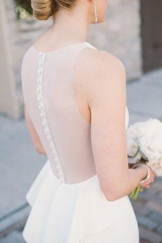 Button back illusion wedding dress: http://www.stylemepretty.com/florida-weddings/st-augustine/2016/02/10/elegant-black-tie-st-augustine-wedding/ | Photography: Still55 Weddings - http://www.still55weddings.com/