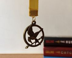 Hunger Games -  Mockingjay Inspired Ribbon Bookmark