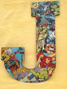 Comic Book Letters for the Kid's Rooms!