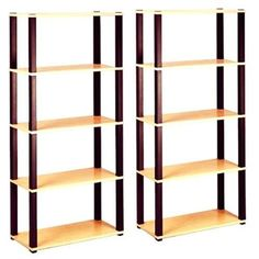 Open 5-Shelf Wooden Bookcase, Storage Furniture, Set of 2 Value Bundle   | eBay