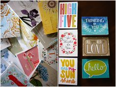 Mix & Match Thank You Notes from Shutterfly #stationery