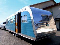 1954 Anderson Vintage Aluminum Travel Trailer restored by Flyte Camp