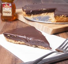 Chocolate Honey Tart - super simple and super decadent. Easily the best chocolate tart you'll ever make ... or eat!