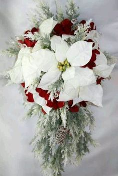 simple christmas wedding bouquet - Google Search