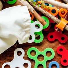 Old school fun: Awesome new set of connectors called Stick-lets for kids to build forts and structures.