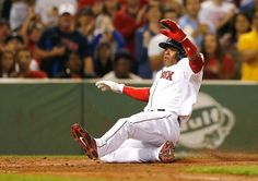 BOSTON, MA - AUGUST 3: Yoenis Cespedes #52 of the Boston Red Sox scores in the first inning against New York Yankees at Fenway Park on August 3, 2014 in Boston, Massachusetts. (Photo by Jim Rogash/Getty Images)