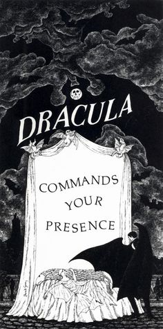An invitation to the opening night of Dracula and an after-theater dinner party, 1977