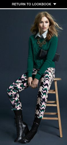 Printed pants for fall/winter