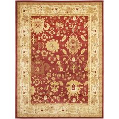 Cover+old+flooring+and+bring+a+decorative+touch+to+your+home+with+this+stylish+8x11+rug.+The+ivory,+gray,+and+beige+rug+features+an+Oushak+design,+and+the+rug+is+durable+enough+for+any+room.