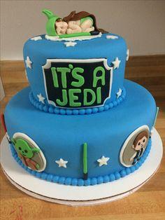 Jedi Star Wars Baby Shower Cake