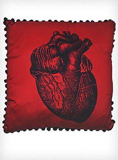 X-Ray Anatomical Heart Satin Pillow