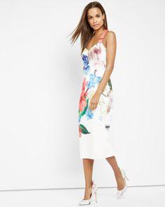 Forget Me Not midi dress - White | Dresses | Ted Baker