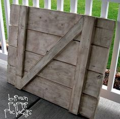 DIY barn door from Simply Kierste