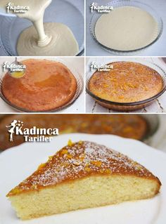 Orange Wet Cake Recipe How To Womanly Recipes Cake Recipes, Dessert Recipes, Desserts, Pudding Cake, Moist Cakes, Orange Recipes, Turkish Recipes, No Cook Meals, Cooking Time