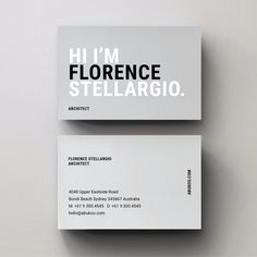 Business Card with bold, fun, minimal typography Make Business Cards, Business Cards Layout, Professional Business Card Design, Minimalist Business Cards, Modern Business Cards, Business Design, Creative Business Cards, Corporate Design, Calling Card Design