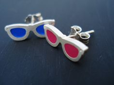 Sunglasses Earrings, Hipster Style Sunglasses, Summer Earrings, Unique and Special Design by lepetitmagique. Explore more products on http://lepetitmagique.etsy.com