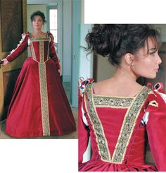 A masterpiece of a #Medieval #wedding #dress, our Toledo gown is a reproduction piece that incorporates dozens of yards of trims, and over a dozen pearl buttons down each sleeve. Fashioned from cotton velveteen, it is a dream dress for a fall or winter wedding! http://www.pearsonsrenaissanceshoppe.com/toledo-gown.html