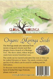 100 Moringa Oleifera Seeds ((40 Grams) FBA by Global. $3.50. Seed cake remaining after oil extraction used as a fertilizer or to purify water. Seeds directly from our farm in Ghana. 1500 Moringa Oleifera Seeds.  Approximately 500 Grams.  Directly from the farm in Ghana.. Save 78% Off!