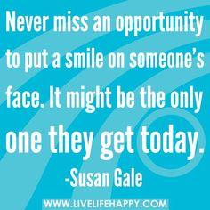 Make the world smile