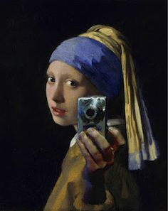 "Vermeer's ""Girl with Pearl Earring"" revisted by artists around the world in different mediums. (Jellybean, dirty car, digital painting, etc.)"