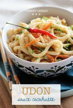 Udon sauce cacahuète - Udon noodles in peanut sauce