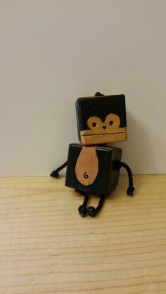 Mini monkey - wood toy, natural wood, wood robot, DIY toy #woodtoy